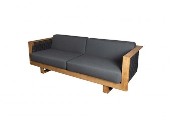 Cane-Line - ANGLE 55010 3-pers. sofa m/teak understel