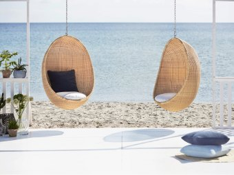 Hanging Egg Chair ND-E85 + sædehynde ND75Y - Exterior/udendørs