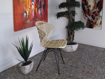 LIVING COMFORT CHAIR - Metal/Rattan spisestol