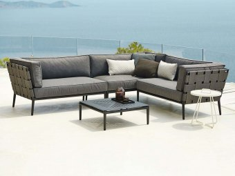 Cane-line: Conic 2-pers. sofa, venstre modul, Cane-line AirTouch