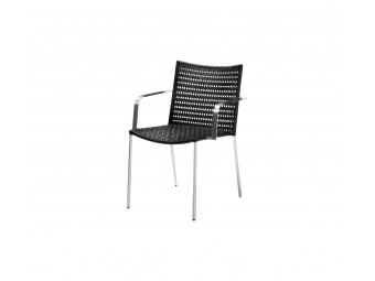 Cane-line: Straw dining stol m/armlæn, Flat weave, stabelbar
