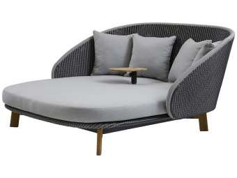 Cane-line: Peacock Daybed m/bord, inkl. hynder, Cane-line Weave