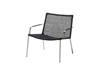Cane-line: Straw lounge stol, Round weave, stabelbar
